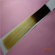 Qingdao factory hot selling two tone color silky straight top quality virgin 2.5g/piece malaysian human hair tape extension