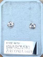 Earrings 14 Carat with Swarowski Gems