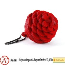 beautiful Pine cones shape colorful promotional gift felt material keyring