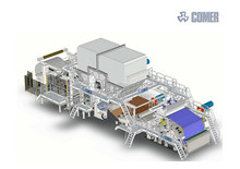 Most advanced 2850/1200 Crescent former tissue paper machine