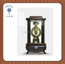 Wood Antique Mechanical Wooden Desktop Clock Table Clock
