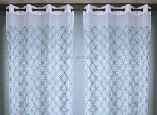 2015 New Arrival 100% Polyester Jacquard Ready Made Basket Lace New Curtain