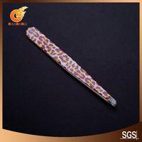 Luxurious wide grip slant tweezers in black(ET11840)