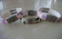 silicone customized alert id bracelets for sport