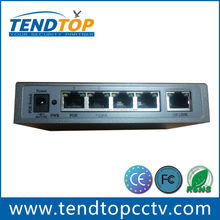 Power over Ethernet 10/100Mbps 4 port PoE switch manufacturer 15.4W