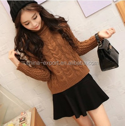 JPSKIRT15071489 New Autumn Girls High Neck Plus Thickness Slim Sweater