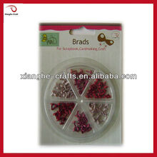 cheap assorted color brads for scrapbooking embelishment wholesale