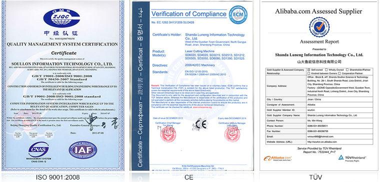 CNC Laser Cutting Machine certification