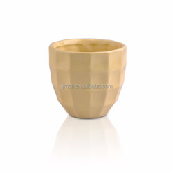 2015 New high bowl Ceramic Candle Holder with decorative design inside for Home decoration for Wholesale
