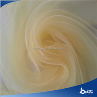wedding dress material 100% polyester organza fabric