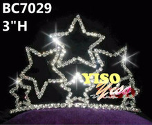 clear crystal star pageant party tiara