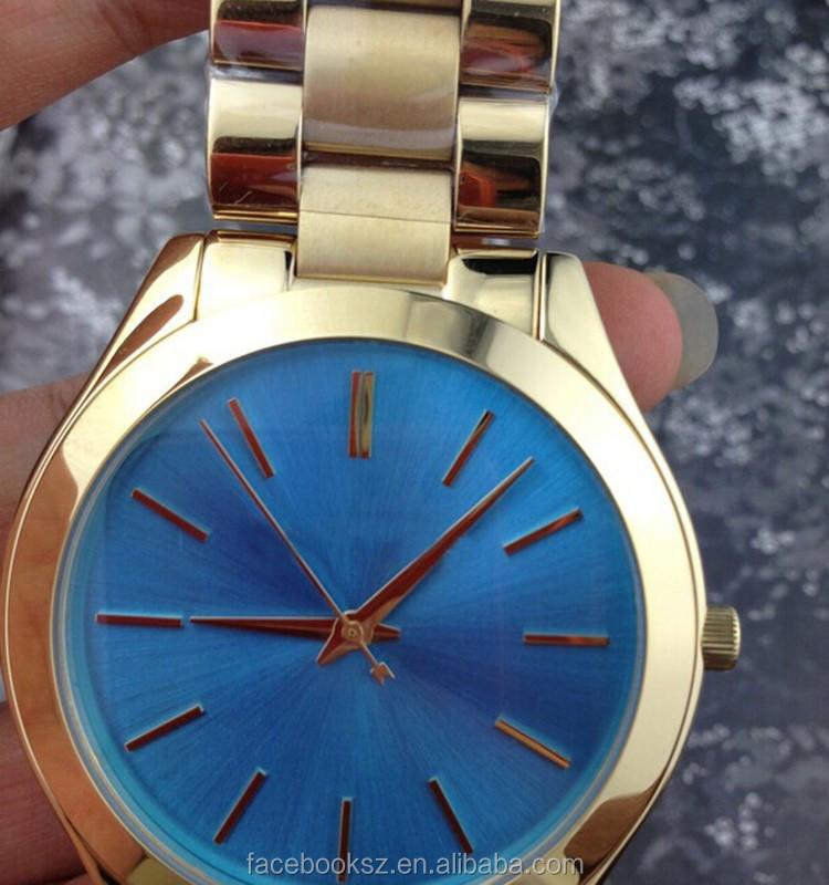 Nueva moda para hombre de banda de acero inoxidable MK 3265 reloj ...