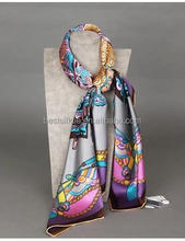 2015 New Design Women's Stylish 100%Silk Scarf