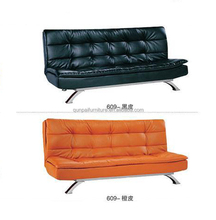 modern red sofa beds, purple sofa beds, sofa bed leather cover 609#