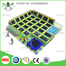 Lowest Price Sky Slam Indoor Bounce Trampoline Park with Basketball Hoops