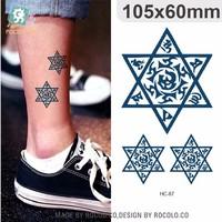 HC87/Hot selling novelty tribal temporary tattoo on leg tatoo sticker