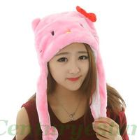 chapeu feminino бомбардировщик шляпа для женщин зимой животных boina плюшевым мехом животных шляпы /scarf перчатки задает теплые шапки шапочки Косплей