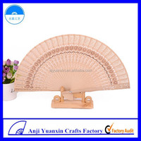 Wood Craft Logo Carved Personalized Wood Fan