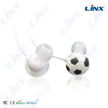 Portable media mp3 player in-ear headphone cute mobile phone accessories dubai football headphone