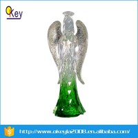 2015 NEW clear plastic christmas standing angel for Christmas decoration
