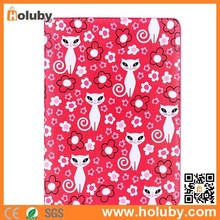 Cartoon Pattern Side Flip Stand PC+PU Leather Cute Case for iPad Air