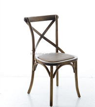 Solid wood wooden cross back chair/cross back wood chair/rental wedding cross back chair