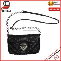 Metal Chain Fashion Lady Shoulder Bag Quilted PU Handbag