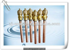 Refrigeration Parts Access Valve With Copper Tube For Air Conditioner