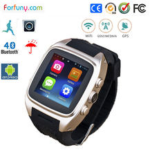 Fashion android smart watch mobile phone wifi network with 3g sim card built in