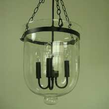 kitchen lighting BK2047P glass bucket shade/ hanging chain pendant light