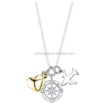 Journey Charm Necklace , Stainless Steel Fancy Design Journey Necklace For Women And Men
