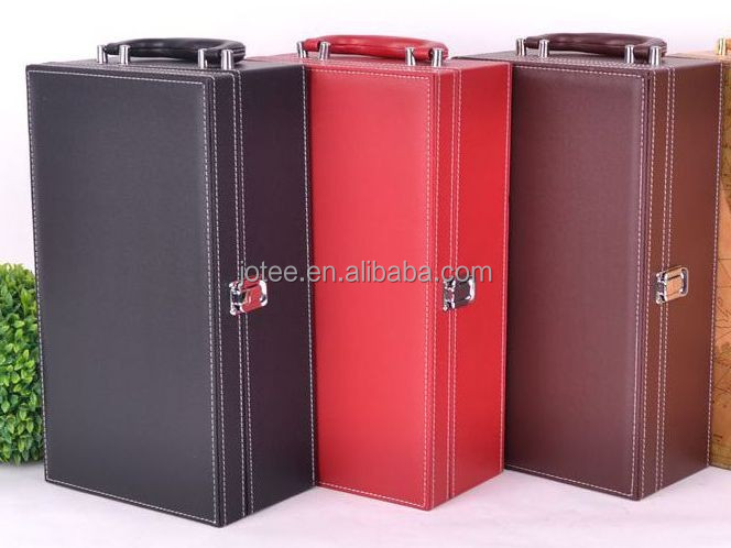 Wholesale red wine packaging leather cheap wine boxes high for Empty wine crates
