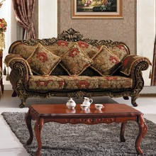 Antique Luxury French Style Living 3+2+1 Sets Old Fashioned Furniture