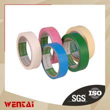 Pressure sensitive crepe paper masking tape multicolor Silicone crepe paper