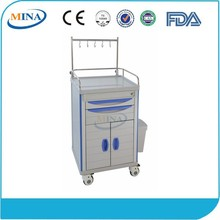 MINA-ITT600C with two drawers hospital medical linen trolley