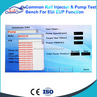 Common rail Diesel fuel injector test bench/test stand/test bank generate new QR Codes for Bos ch Del phi injectors