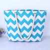 Blue stripe designer woman handbag beach tote bag lady fashion bag