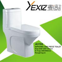 A3102 siphonic bathroom good quailty sanitary ware one piece toilet