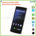 "El último 4g fdd-lte oneplus teléfono uno 5.5"" fhd pantalla snapdragon 8974ac 2.5 3gb ghz ram 64gb 3100 mah otg nfc 4.4 android"