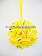 craft artificial christmas velvet floral single flower with plastic stem flower ball for wedding decor