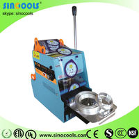 Digital automatic bubble tea cup sealing machine, CE Approval hot selling model automatic flaps folded carton WY-806B