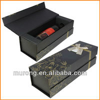 Strong paper wine box with bow