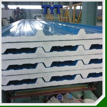Best m2 price roof sandwich panel/pu polyurethane sandwich panel/house wall sandwich panel