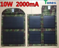 Best design high efficiency 10w foldable solar laptop charger