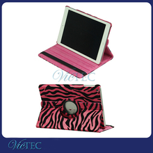 Fashion Zebra pattern 360 degree rotary leather case for ipad air