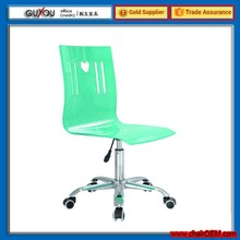 New Design Red Plastic Bar Chair Bar Stool with Wheels(YCW-156)