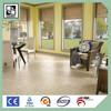 Durable indoor wood Plastic flooring tiles / vinyl flooring tiles / PVC vinyl flooring with uniline clock
