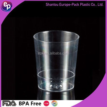 Disposable 55ml clear kids plastic mini fruit juice cup/portion cup/ps container