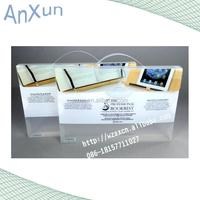 A4 printing Clear handle Box File Portable Organiser Storage Case