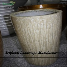 SJZJN 2622 Fiberglass Planter Flower Pot for Shopping Center / Indoor Outdoor Decoration